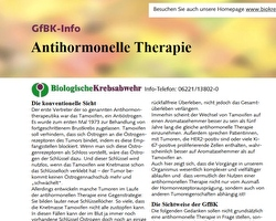 Therapieinfo: Antihomonelle Therapie